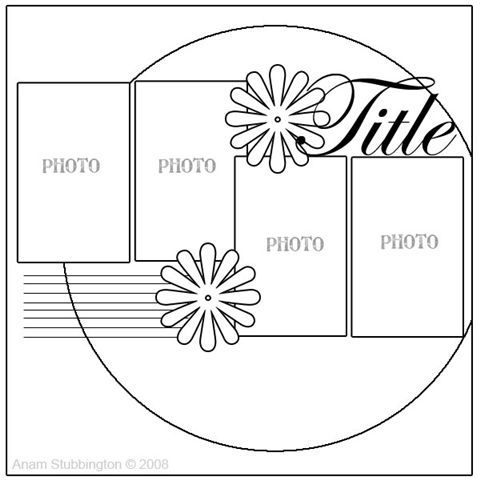 One-page layout - trace dinner plate to cut circle for background.
