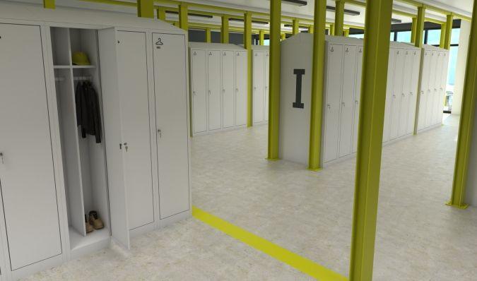 Uniform exchange lockers - Divided Lockers - Welled Lockers - ATEPAA® Clothes lockers manufacturer