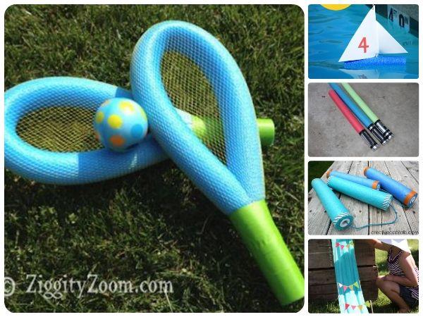 5 Juegos infantiles caseros �con churros de piscinas!