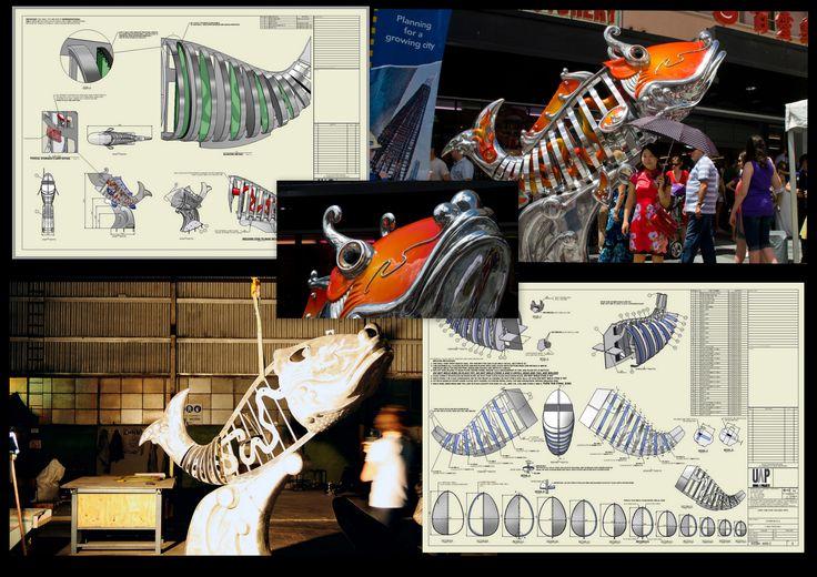 Brisbane China Town fish sculpture Rapid Concept Designs Urban Art Projects