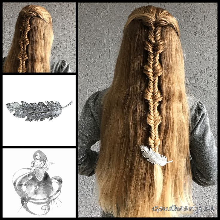 Halfupdo with a fishtailbraid and a feather hairclip from the webshop www.goudhaartje.nl (worldwide shipping).   Hairstyle inspired by: @n.starck (instagram)   #hair #hairstyle #plait #trenza #vlecht #braid #fishtailbraid #braids #braidideas #hairfeed #hairpost #hairtrends #hairideas #stunninghair #halfup #halfuphalfdown #halfupdo #beautifulhair #gorgeoushair #longhair #blonde #thickhair #hairaccessories #haaraccessoires #goudhaartje