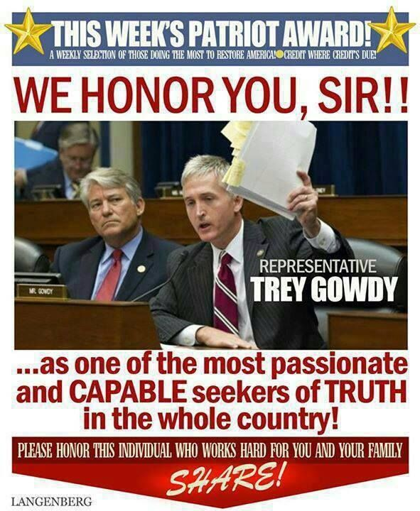 Rand Paul, Ted Cruz, no..voted for Monsanto..Trey Gowdy for President, the only one who has been serious, about seeking truths