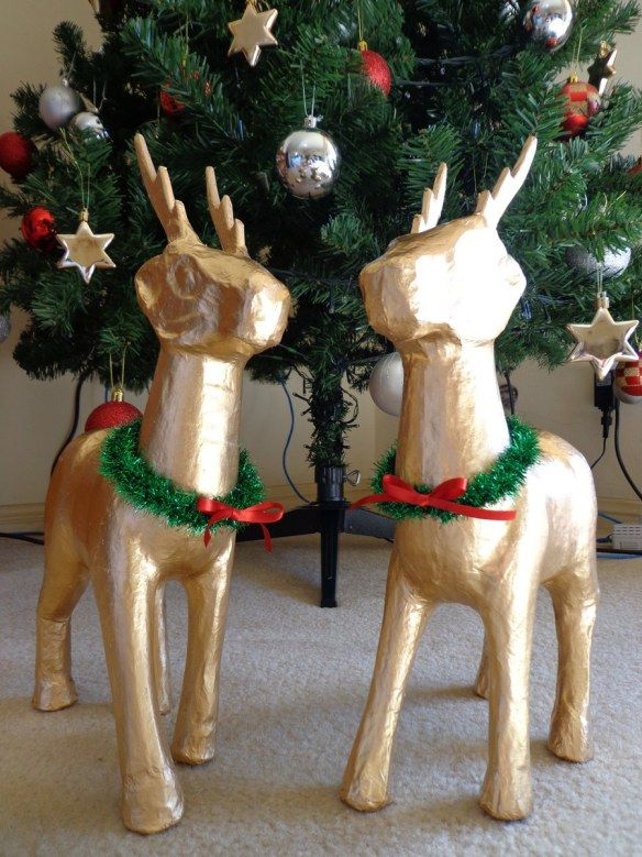 5 - Paper Mache Reindeers || Inspired Life with Jess