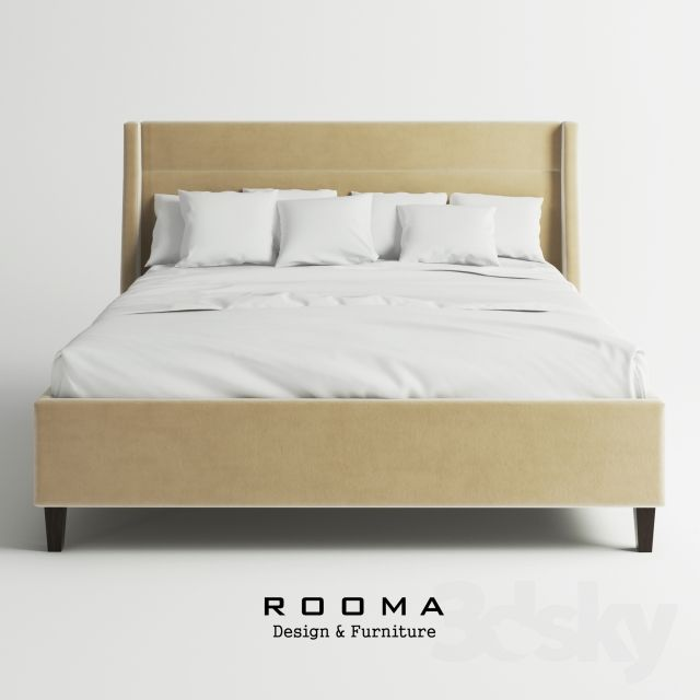 3d models: Bed - Rooma Design Retro Bed