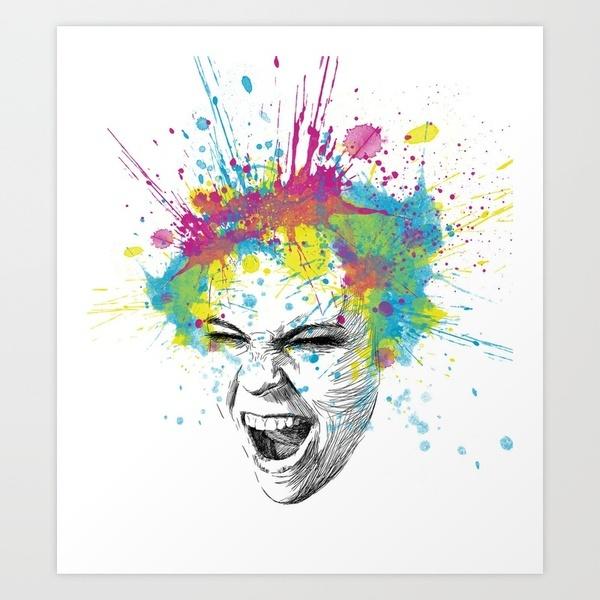 screaming angry girl: Artists Theme, Graphics Art, Discount Design, Art Prints, Art Ideas, Design Bags, Screamer Art, Earth Today, Crafty Ideas