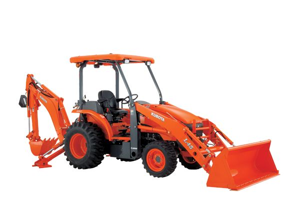 Kubota L45-ENGINE TYPE – Kubota V2203-M-E3-TLB1, Indirec Injection, Water Cooled, 4 Cycle Diesel ENGINE GROSS POWER – 33.6 kW (45.0 HP) PTO POWER – 23.9 kW (32.0 HP) TRANSMISSION – HST Plus TURNING RADIUS- 3.4 m 3-POINT HITCH CATEGORY – I LIFT CAPACITY TO MAX. HEIGHT – 1292 Kg TRACTOR WEIGHT – 3254 Kg
