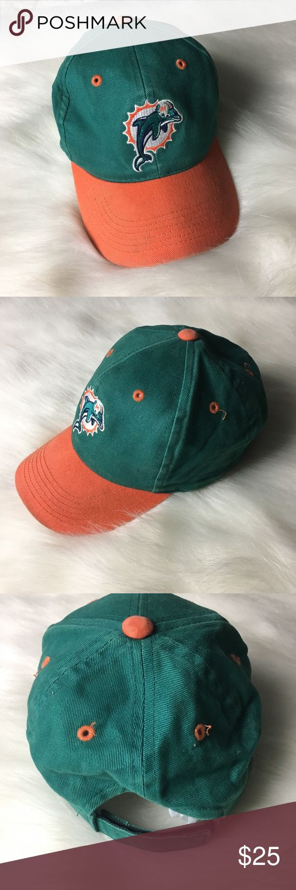 Vintage Miami Dolphins Hat Youth size hat. Vintage with old Dolphins logo. Some writing on tag. A little vintage wear. nfl Accessories Hats
