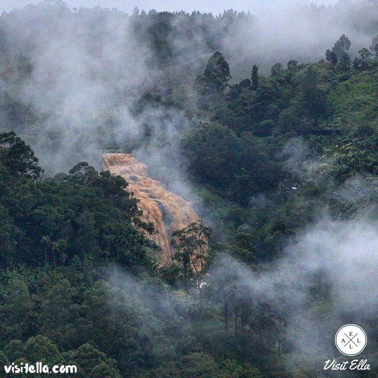  Some rainy days it can be scary as this..  #VisitElla #Ella #SriLanka #memoriestoremember #ravanafalls #visitsrilanka