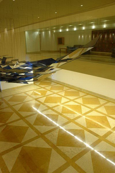 Floor application with sunny and indus gold stones
