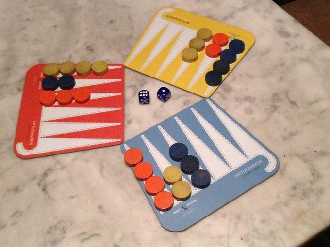 BATTLEGAMMON by Sacha Öhler & Alexander Meier —  Kickstarter - Portable 3-player BATTLEGAMMON boardgame based on the rules of backgammon (includes new rule to move backwards & revenge options)