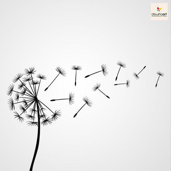 dandelion stencil svg - Google Search