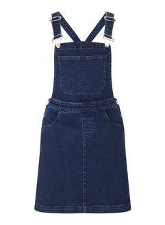 Dark Wash Denim Pinny Dress