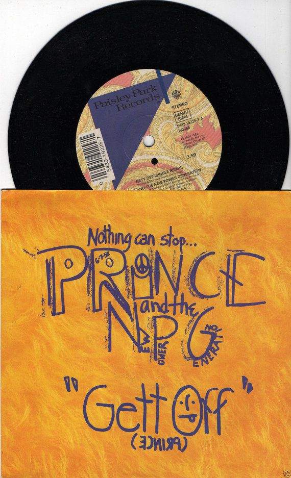 "PRINCE Gett Off 1991 Uk Issue 7"" 45 rpm Vinyl Single record pop dance hip hop 90s music purple rain W0056 Free Shipping"