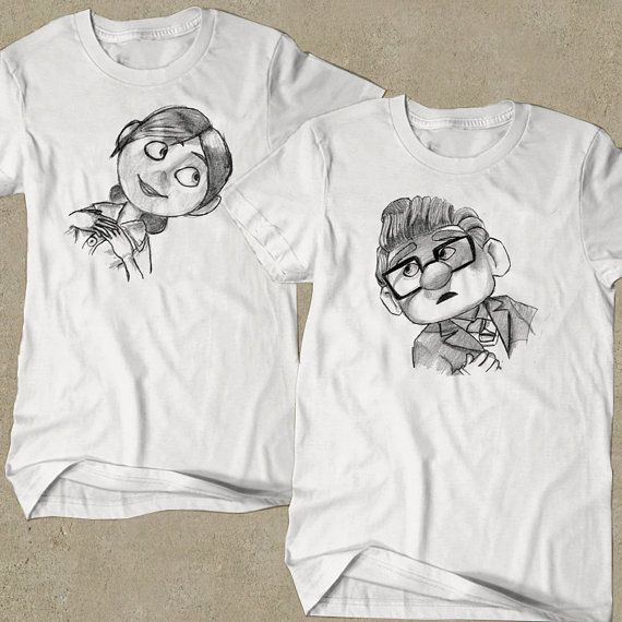 Carl And Ellie Couple T Shirt/Couple/T by MacantMandja on Etsy