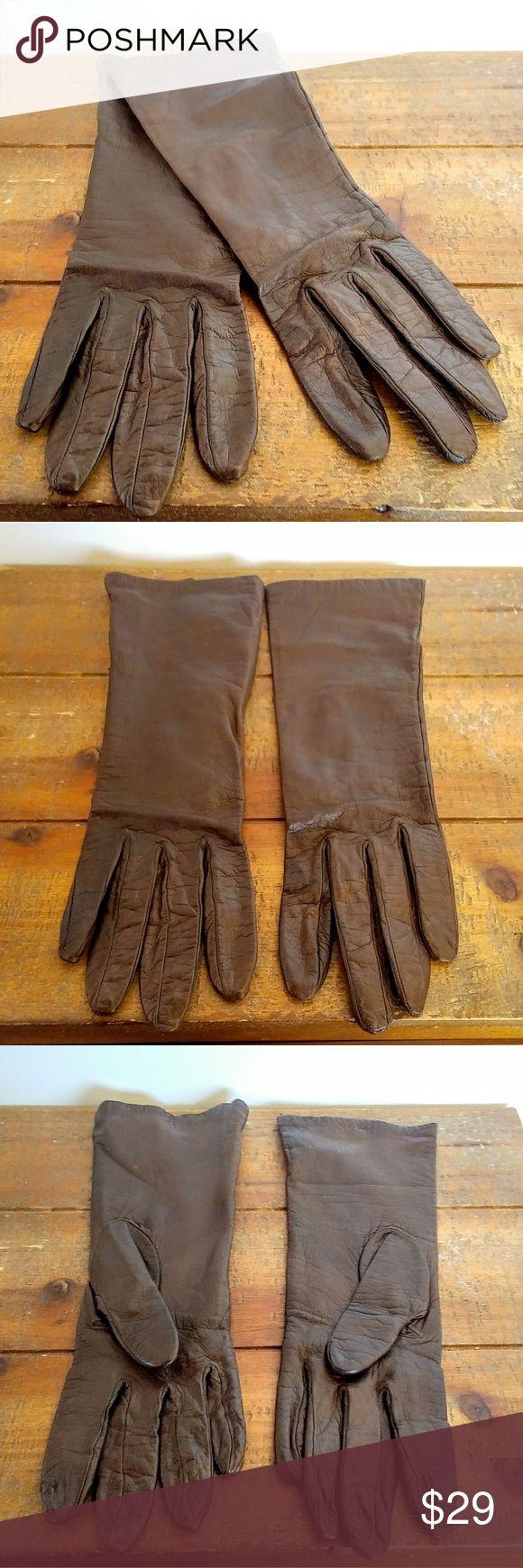 Leather driving gloves vancouver - Vtg Chevreal Garanti Soft Leather Gloves