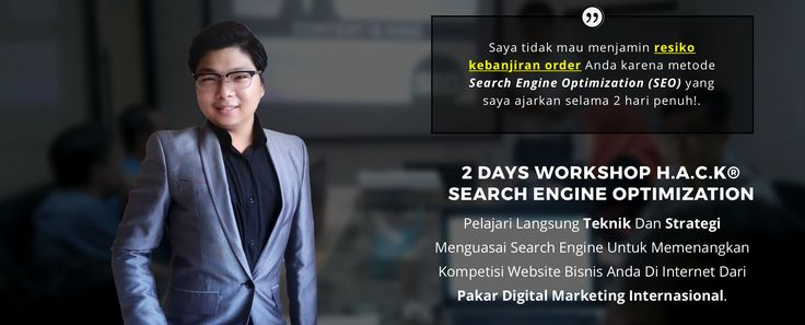 Toko Saya: 2 Days Workshop: HACK Search Engine Optimization (...