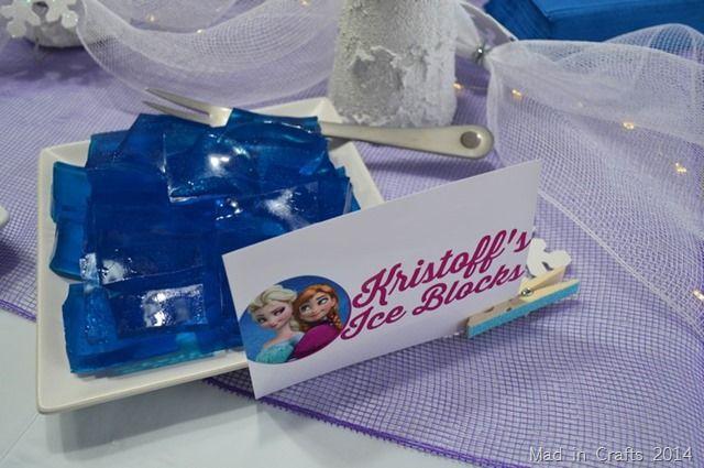 Disney Frozen Party Menu