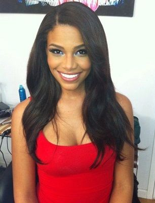 full sew in on natural hair - Google Search                                                                                                                                                                                 More