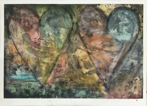 JIM DINE Watercolored by Jim 2015 Softground etching with power-tool abrasions, hand watercolored on Hahnemuhle paper Sheet: 42″ x 56-1/2″ / 106.7 x 143.5 cm Image: 37-1/2″ x 53-1/2″ / 95.3 x 135.9 cm Edition of 6 Jonathan Novak Contemporary Art, Los Angeles http://novakart.com/artists/jim-dine/