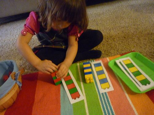 Building Patterns with LEGOS (Photo from The Work Plan)