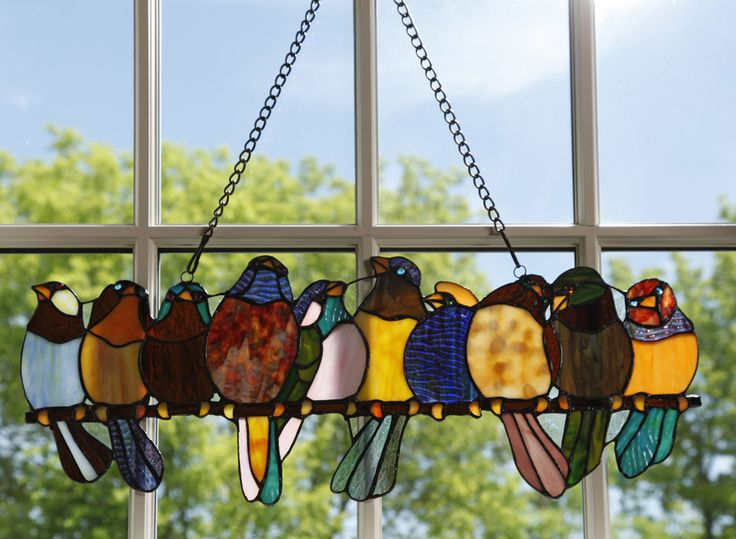 Birds and stain glass wonderful