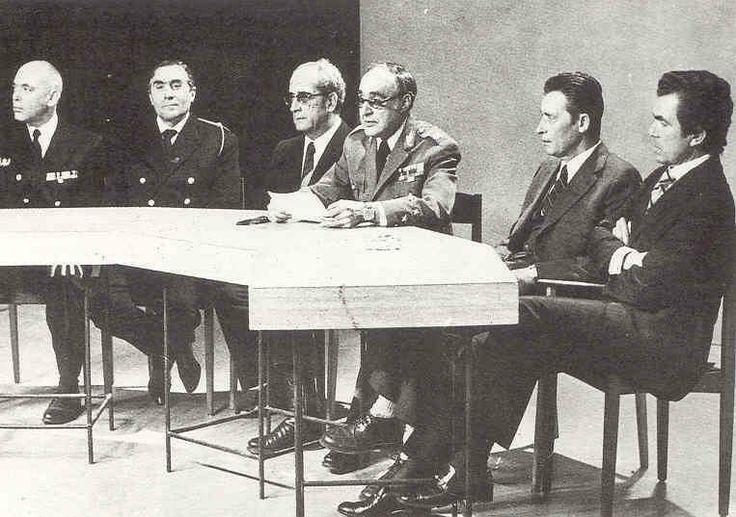 Présentation  de la Junta de Salvação Nacional, le 25 Avril 1974 sur la chaîne RTP