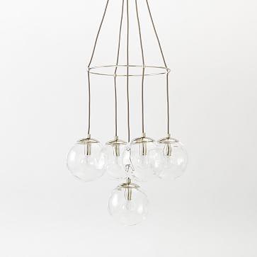 blown glass chandelier 5light - Blown Glass Chandelier