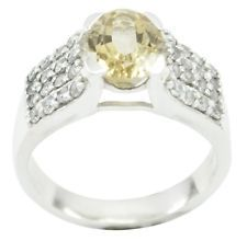 Citrine 925 Sterling Silver Ring fair Yellow Designer AU gift