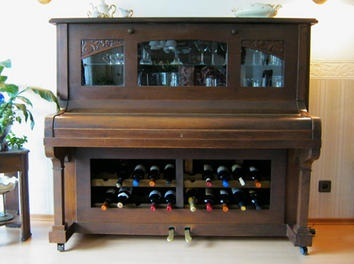 If your #piano has seen better days, why not turn it into a #bar?