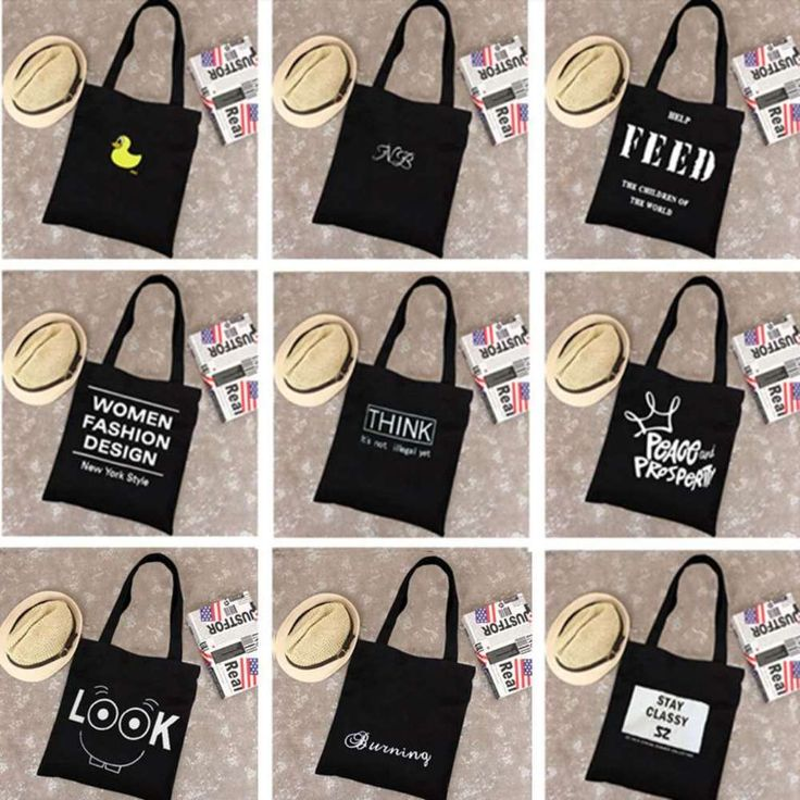 Girls Super Cool Cotton Shopping Bags Canvas Tote Casual Schoolbag Handbag Bag  #Unbranded #Tote