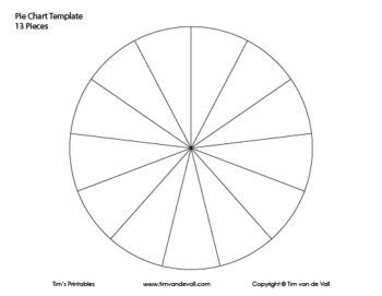 13 piece pie chart template templates pinterest templates pie
