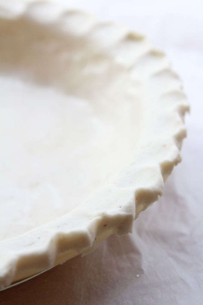 Gluten free coconut oil pie crust – only five ingredients needed to make this tender, flaky pie crust that's completely dairy & nut free.