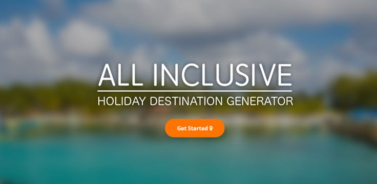 The alpharooms All Inclusive Holiday Generator.