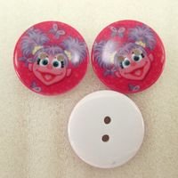 25Y42619  22*22mm button high quality printed polyester ribbon 25 pieces, DIY handmade materials, wedding gift wrap