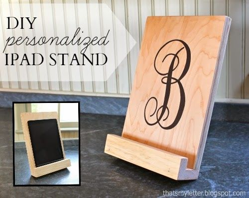 """That's My Letter: """"I"""" is for Ipad Stand, diy personalized ipad stand"""