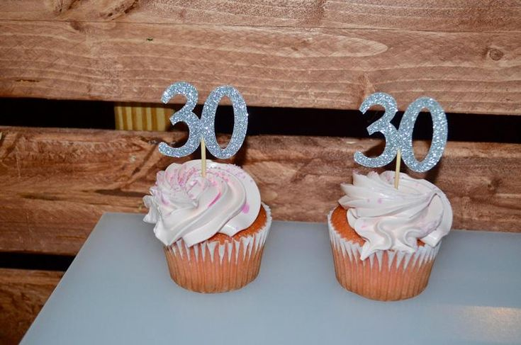 30th birthday cake toppers silver