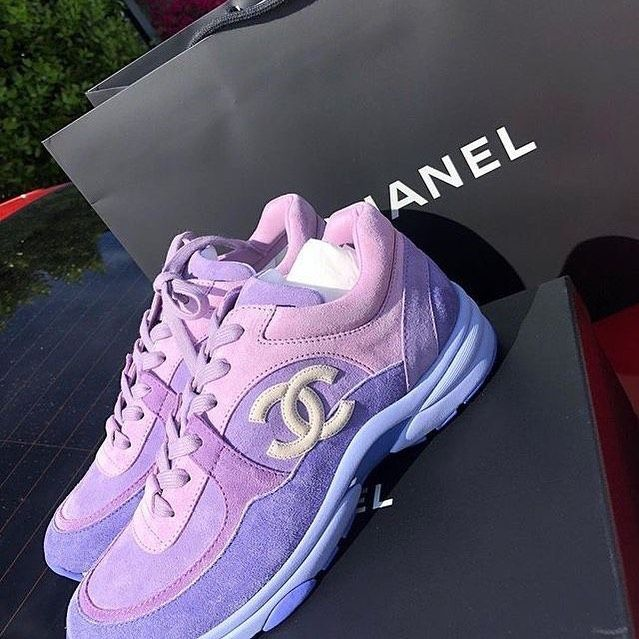 purple Chanel sneakers ~.~ | Hype shoes