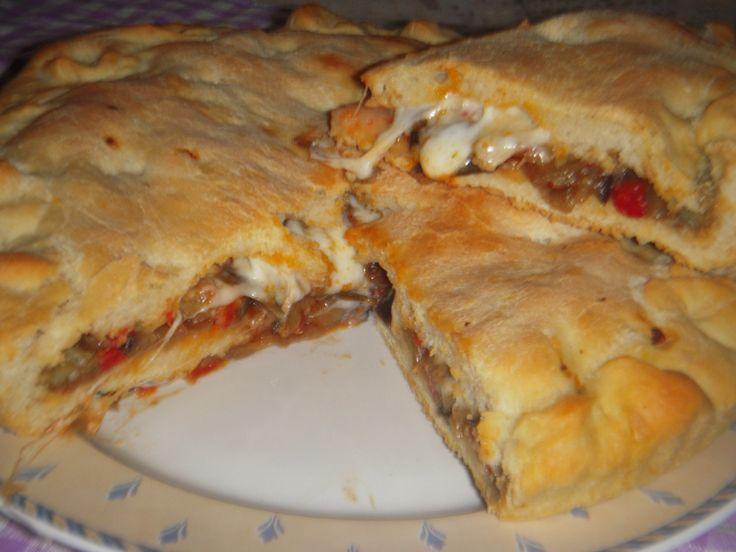 """Pasta di pane ripiena di melanzane alla """"calabrese"""""""