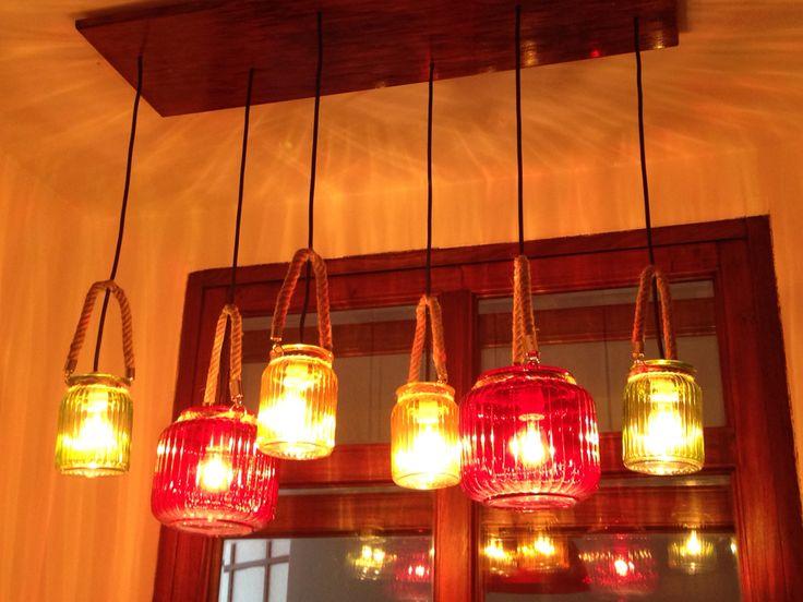 Jar chandelier by Fabián Ayala