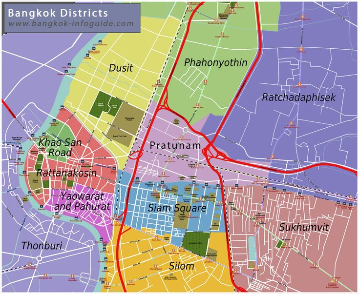 Image result for map of bangkok districts
