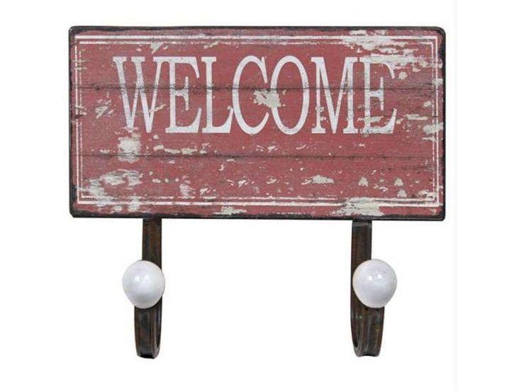 """Cabideiro de parede dupla Welcome por R$ 59,99 na<a href=""""http://ad.zanox.com/ppc/?29470371C10967541&ULP=[[http://www.mobly.com.br/cabideiro-de-parede-dupla-welcome-vermelho-metal-oldway-102303.html?utm_source=Zanox&utm_medium=Afiliados&utm_campaign=deeplink]] """" target=""""_blank"""">Mobly</a>"""