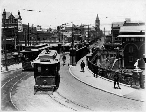 Barrack St Bridge, Perth. 1910.