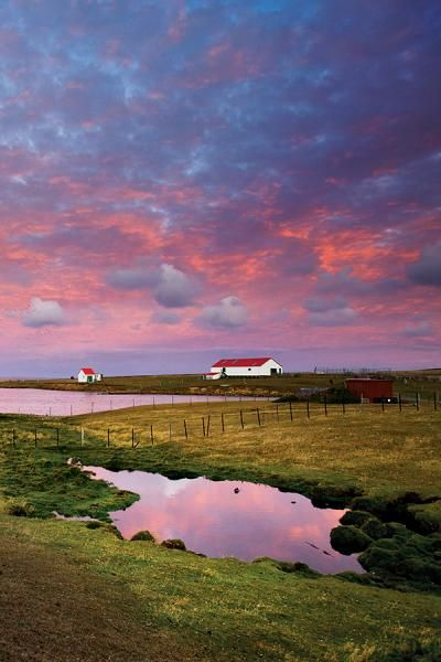 Falkland Islands: they're like rural England (accents, fog, cold and all) but with penguins! Right off the coast of Argentina. If Argentina ever stops threatening to invade I'd love to go there.