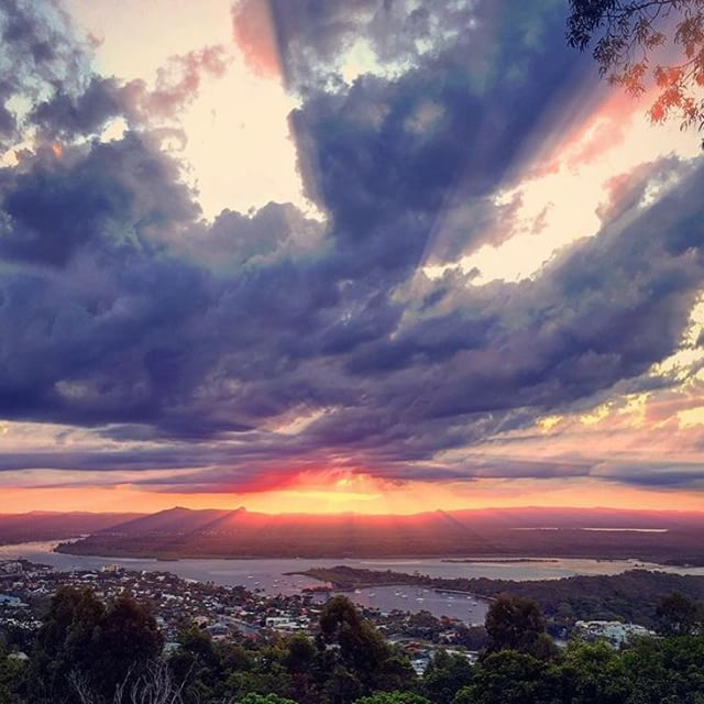 A heavenly sunset over Noosa captured from Laguna Lookout. Simply stunning!