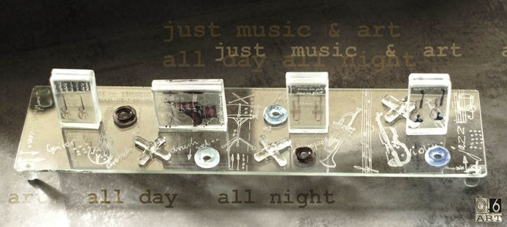 just music and art all day all night  glass Band by Dorota Morawska