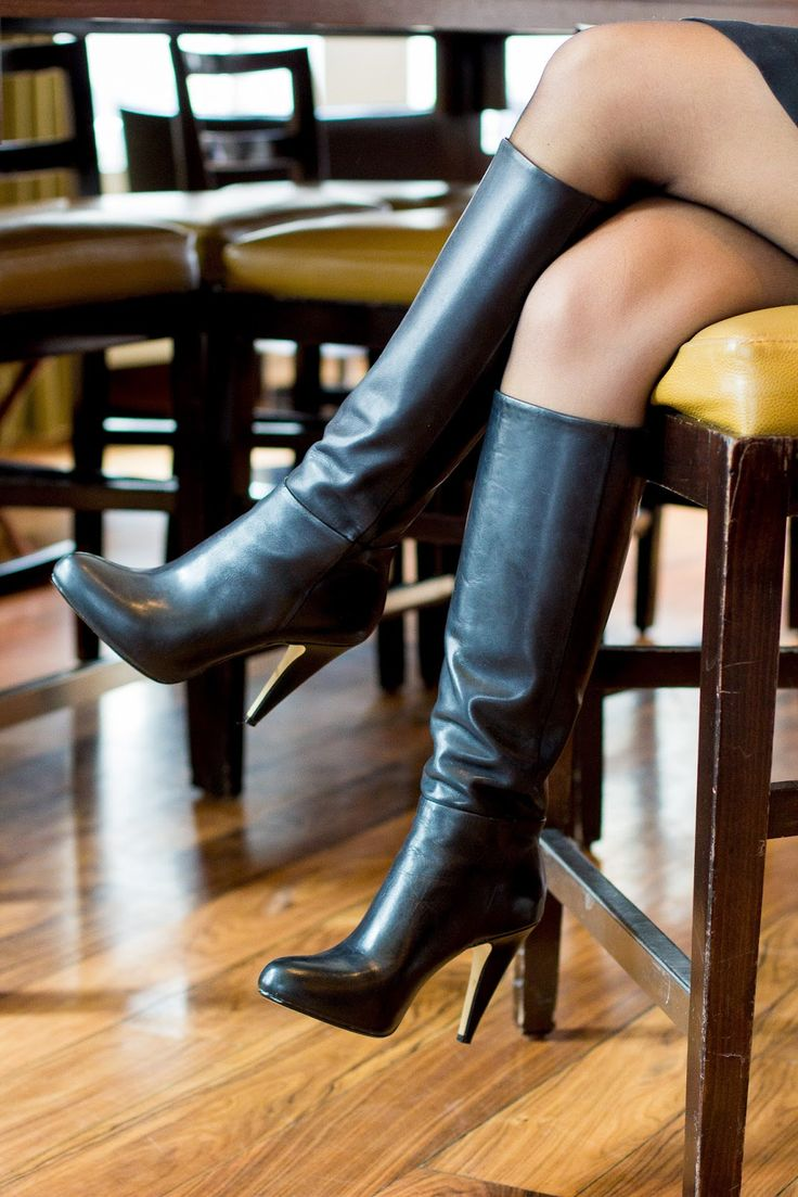 Every woman needs a good pair of heeled leather boots!
