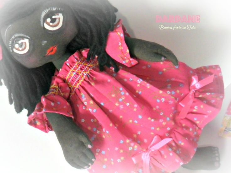 Dardane muñeca de trapo negrita adorable
