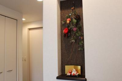 玄関ニッチ:お正月飾り