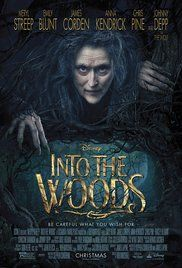 Into the Woods (2014)  (7/10)    Quite enjoyed this story wise, however the songs weren't perticualy anything special.    I loved the whole cast especially meryl, emily, hames, anna and chris.    I throughly enjoyed how each story intertwined and caused each story to come together as one by the end. Even though this was a disney film you don't get the usual happy endings as they use the actual stories, the sisters get their eyes pecked out etc.