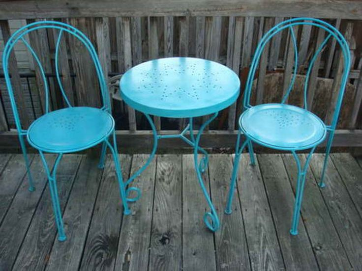 Tiffany Blue Furniture iron chairs